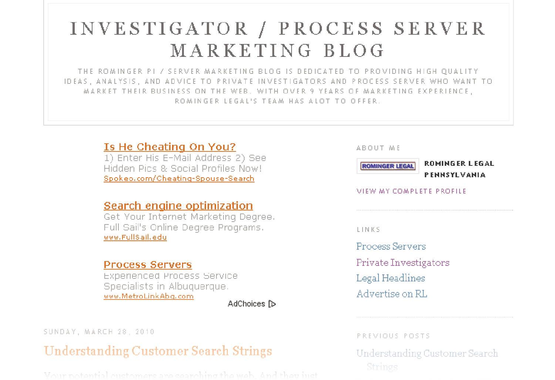 Process Server blog