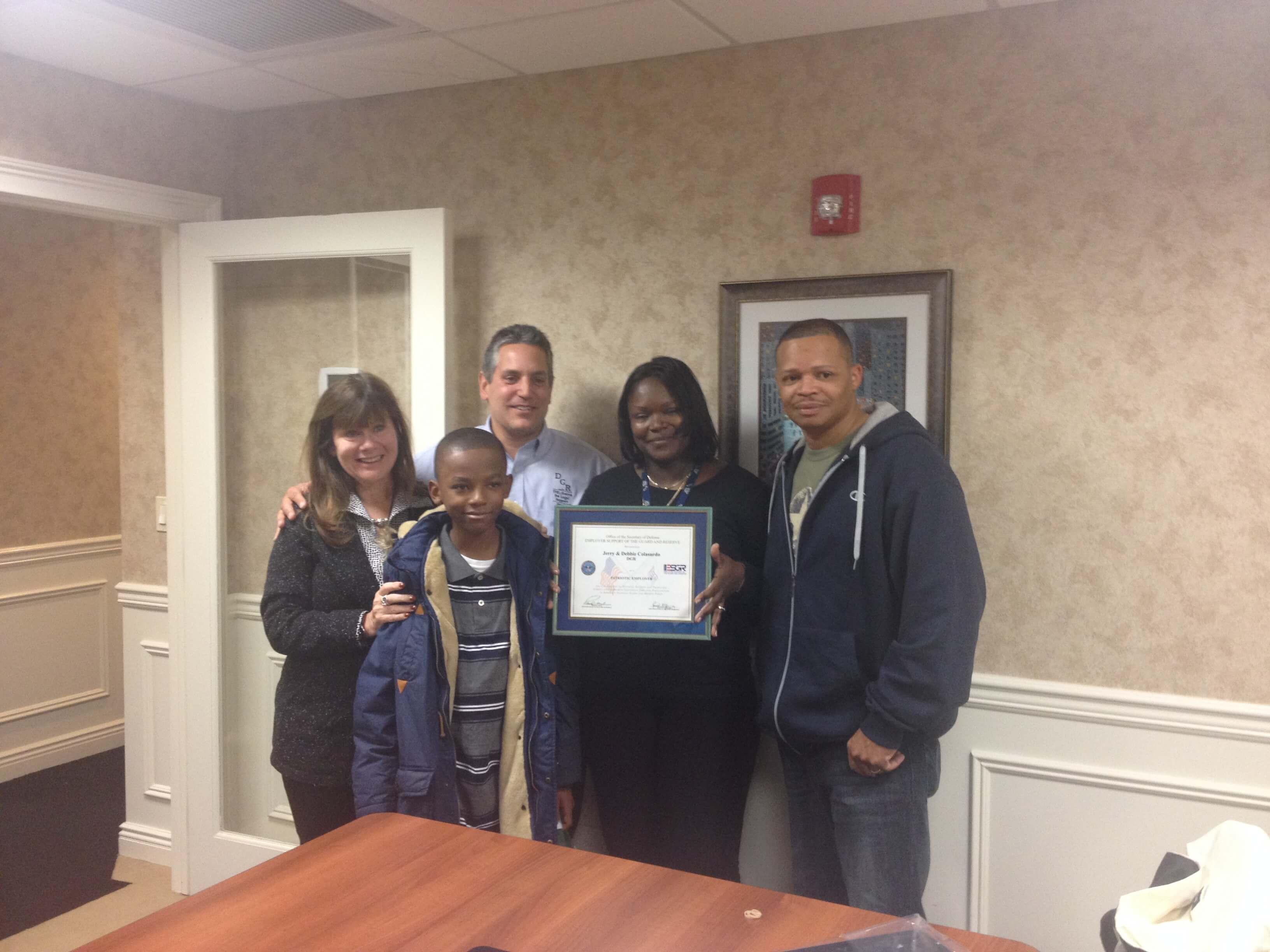 Receiving the Patriot Award