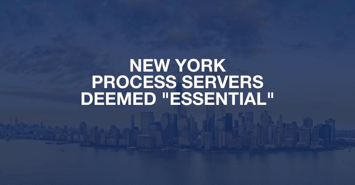 "New York process servers deemed ""essential"""